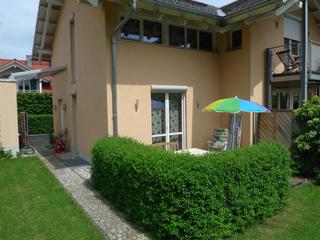 Ferienwohnung Silke Krauth Ansicht der Terrasse