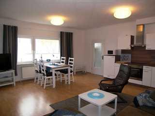 Ferienhaus an der Morgensonne Wohnbereich/Küche