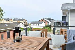 La Mola Balkon mit Sicht auf die Ostsee