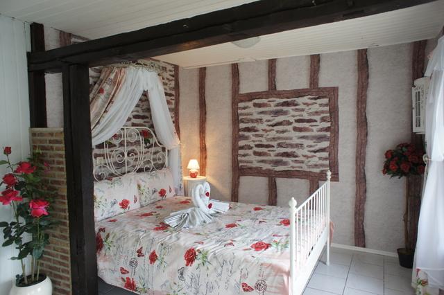 Rose cottage Romantisches schlafzimmer 1