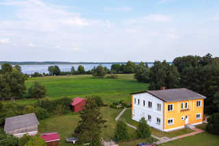 Ferienwohnung am alten Gutshaus Blick auf das Haus