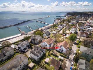 Maisonette *Amalie* - in Hafennähe Luftaufnahme