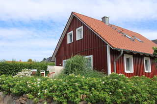 Ferienhaus Nordic Red im Ostseebad Zinnowitz Südseite