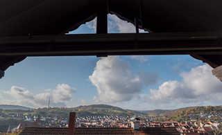Ferienwohnung Mömlingtal Balkon mit Odenwaldblick