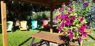 Landurlaub nahe Ostseebad Rerik Garten und Grill am Landgasthof