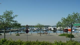 Appartement Meerblick Blick auf den Yachthafen