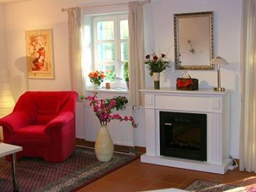 Wohnzimmer Ferienwohnung 54 qm