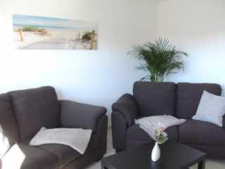 Ferienwohnung Hinz Sitzecke im Wohnzimmer