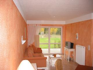 Ferienwohnung Inselromantik Wohnbereich mit Couch