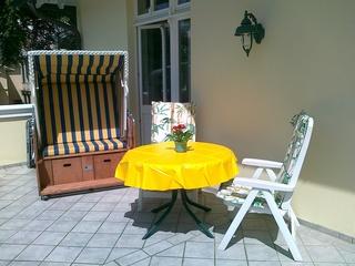 Villa Caprivi, WE 6, Apartmentvermietung Sass großer Balkon