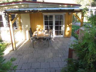 Zinnowitz Kiefernweg 6b Ferienhaus Kiefernidyll Blick auf die Terrasse