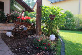 Ferienwohnung Big Mama's Home gemütlicher Innenhof