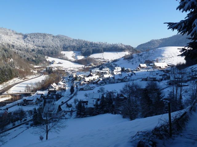 Ortsteil Halbmeil im Winter