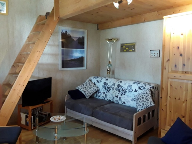Wohnzimmer mit Galerie, Obergeschoß Meerblick