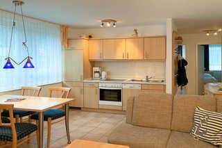 Residenz am Strand, Whg 352 Küche mit Essbereich
