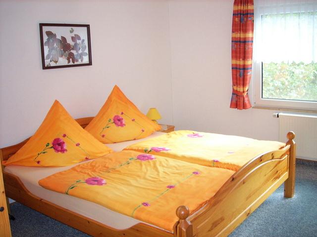 Schlafzimmer Ferienhaus obere Wohnung