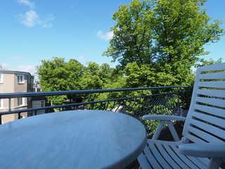 Ferienhaus Alisch Fewo 2 Balkon mit Blick auf den Kurpark