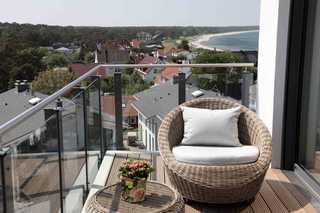 Penthousewohnung Kapkieker Balkon mit Ausicht