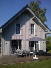 Holzhaus am Fleesensee Terrasse