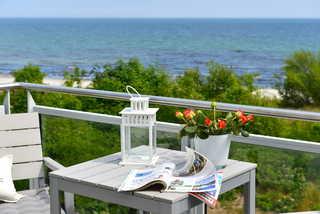 Ferienwohnung Strandperle mit Meerblick Meerblick vom Ostbalkon
