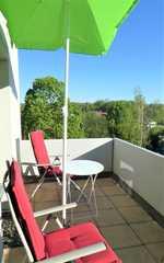 Ferienwohnung Kurparkblick Balkon