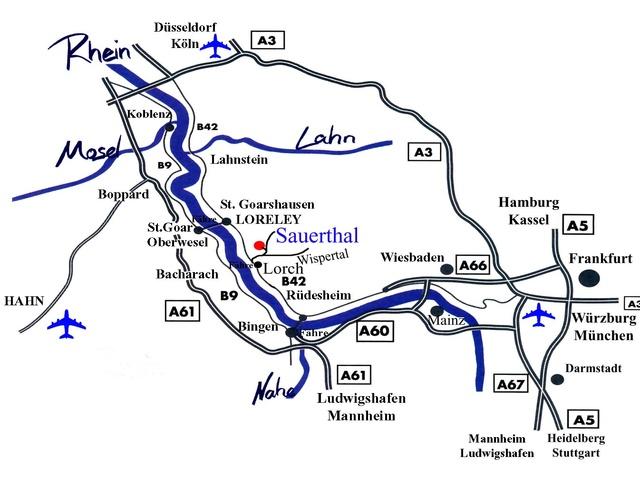 Anreise nach Sauerthal