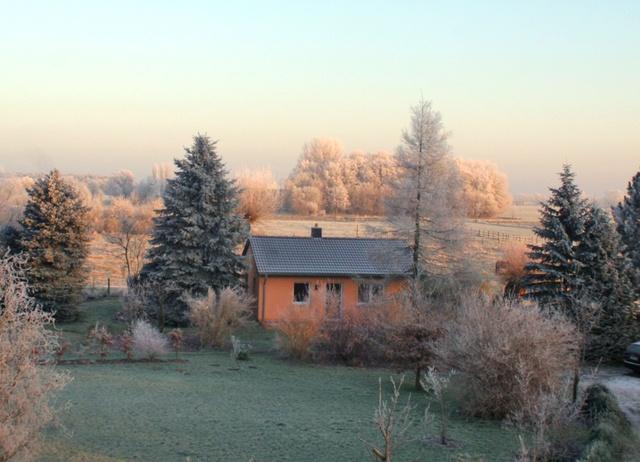 Unser Ferienhaus im Winter...