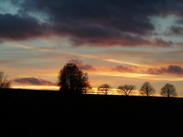 Romantischer Abendblick von der Terrasse