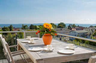 Villa am Kreidebruch - Ferienwohnung OstseeWeitblick Balkon mit Merrblick
