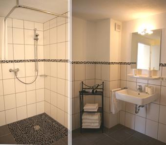barriere freies Bad mit Dusche WC