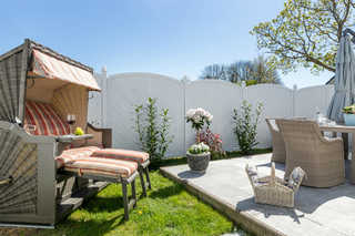 Ferienhaus Ostseeperle Gartenansicht