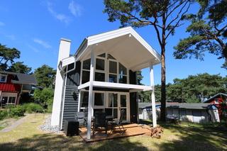 F: Ferienhaus Traumzeit 96 -Strandpark- ca.80m Strand Außenansicht