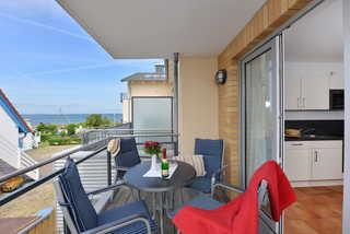Bernstein Suite Balkon mit Ausblick auf die Ostsee