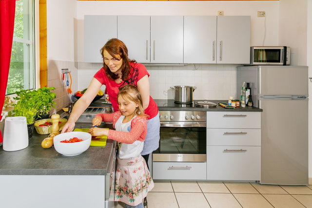 Küche Ferienhaus Kranich