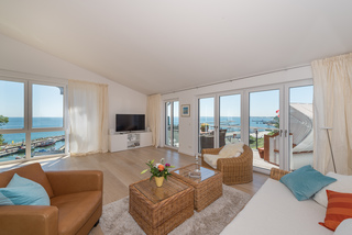Bel Etage in der Villa Amelie am Meer Wohnbereich