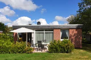 Ferienhäuser Taddigshörn Garten mit Terrasse