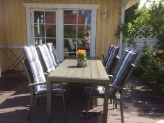Ferienwohnungen Polchow - direkt am Wasser Schwedenhaus Terrasse - viel Platz und ruhige L...