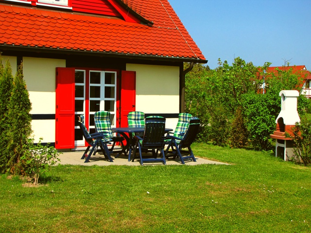 Ihre Terrasse mit Grillkamin der Maisonettewohnung