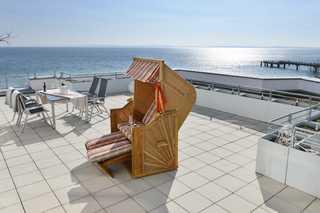 Suite Meersinn riesige Dachterrasse mit Strandkorb