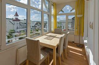 Villa Meeresgruss FeWo 7 Wintergarten mit Blick in Richtung Granitz