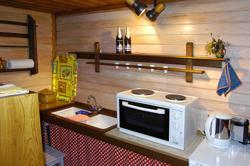 Die kleine - aber gut ausgestattete Küche