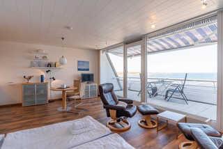 Ferienwohnung Hafen & Strand Ferienwohnung Hafen&Strand Bett mit Ausblick