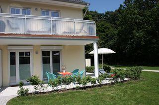 A: Ferienwohnung Ostseerausch Nr. 01 mit Terrasse Außenansicht