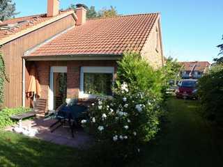 Ferienhaus Boltenagen 62a Terrasse, Sitzecke