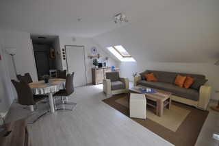 Nr. 65 - Ferienwohnung Krabbenpadd Wohn- / Essbereich