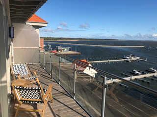 Speicherperle Ausblick Terrasse