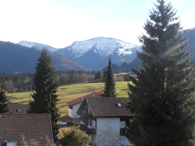 Blick vom Balkon - Der Winter kündigt sich an