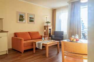 Hafendomicil Appartement WH12 - Specht gemütlicher Wohn- und Essbereich