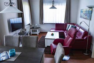 Ferienwohnung Krabbe Wohnzimmer