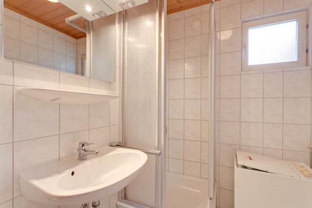 In allen Häusern: Duschbad mit Waschmaschine
